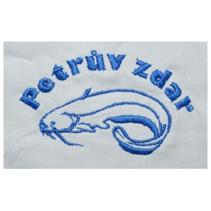 vyšívané rybářské tričko Petrův zdar