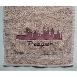 vyšívaný ručník Praha - Prague